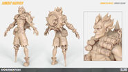 Junkrat high-poly turnaround (By Renaud Galand)
