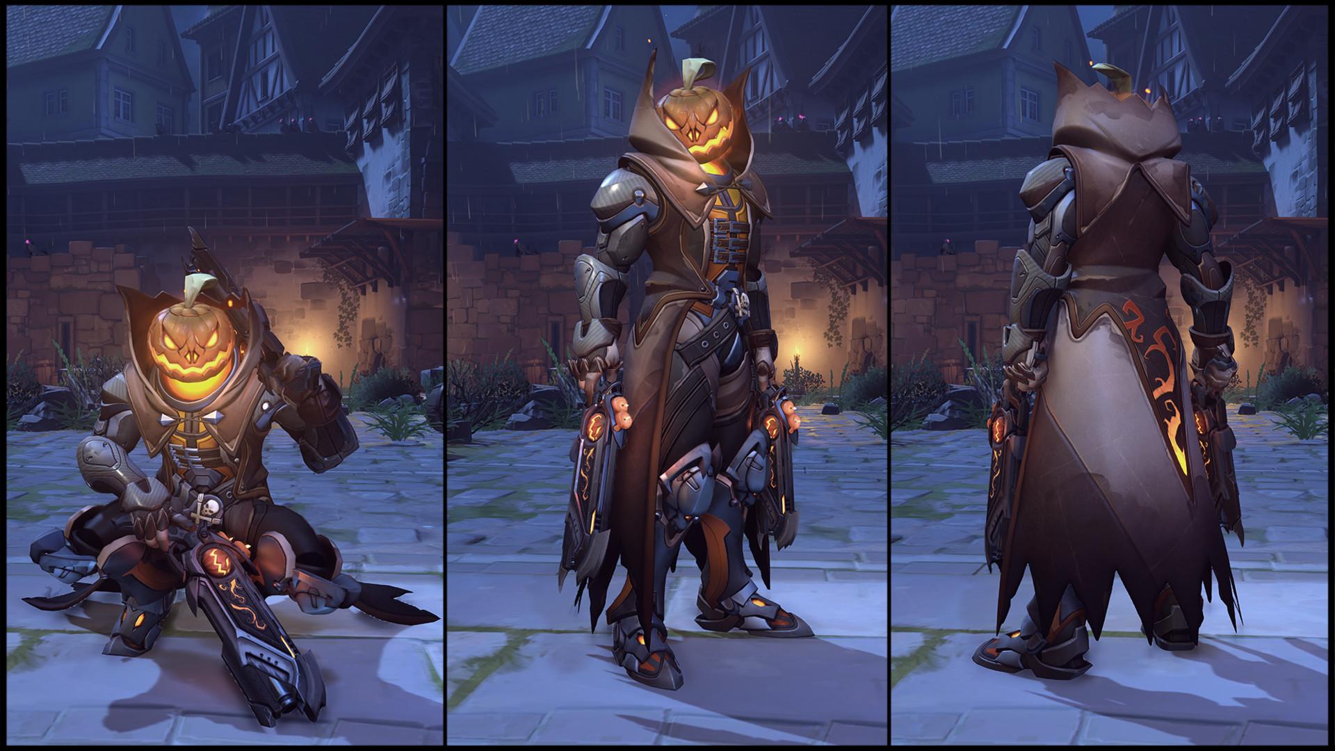 Image - Reaper (Jack o Lantern skin) turn-around.jpg | Overwatch ...