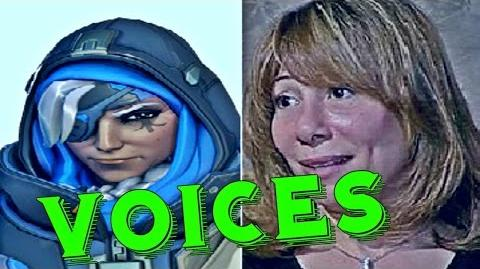 Ana Amari All Voice Lines Overwatch Voice Actors Overwatch Characters lines Cast Behind The Voices