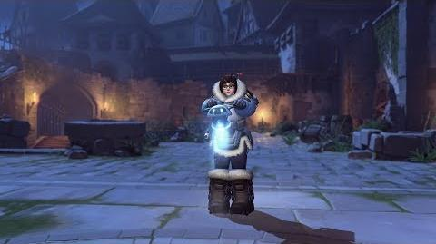 Mei halloweenterror emote hopping