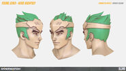 Young Genji's Head high-poly turnaround (By Renaud Galand)