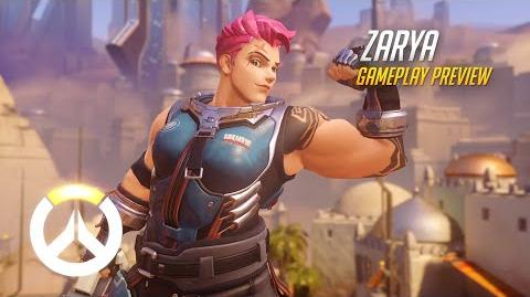 Overwatch Zarya Gameplay Preview 1080p HD, 60 FPS