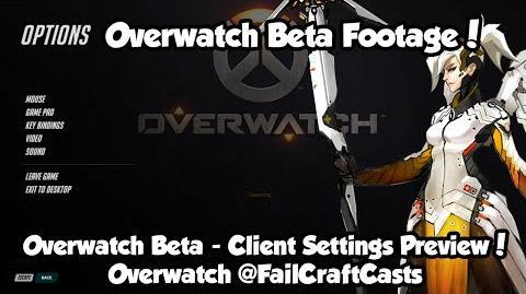 视频- Overwatch Beta - Client, Video and Control Settings