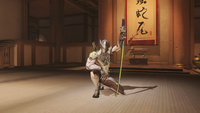 Genji kneeling