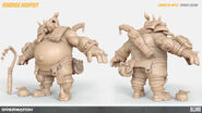 Roadhog high-poly turnaround (By Renaud Galand)