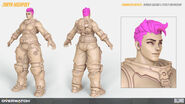 Zarya high-poly turnaround (By Renaud Galand)