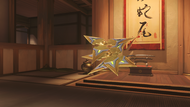Genji ochre golden shuriken