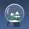 Pi snowglobe