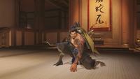 Hanzo kneeling