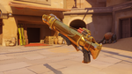 Pharah classic golden rocketlauncher