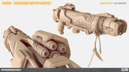 Pharah thunderbird weapon highpoly