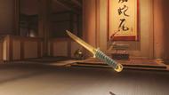 Genji sparrow golden wakizashi