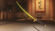 Genji malachite golden dragonblade
