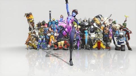 Overwatch - Anniversary Widowmaker emote - Ballet