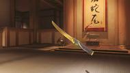 Genji cinnabar golden wakizashi