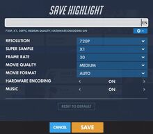 Highlight Save Menu PC