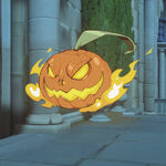 Flaming Pumpkin spray - Overwatch