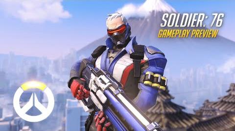 Soldier 76 Gameplay Preview Overwatch 1080p HD, 60 FPS