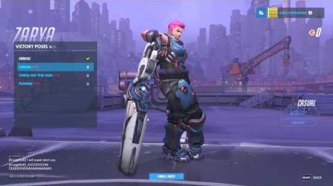 Overwatch Zarya. ALL Unlockables Showcase. Epic Settings
