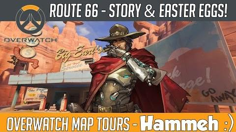 Overwatch - Route 66 Map Story, Lore and Easter Eggs! Hammeh