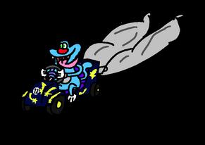 Oggy on Star Blaster