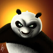 Po Painting by Pluckinthaguitarra