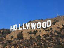 Hollywood Sign hillside closeup