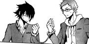 Yuichiro y Kimizuki esposados