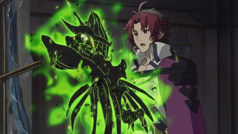 Crowley atrapa a Gekkōin (Anime)