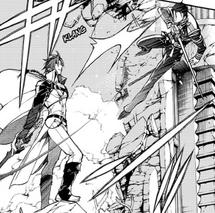 Crowley pelea contra Guren (Manga)