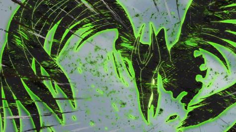 Gekkōin atacando (Anime)