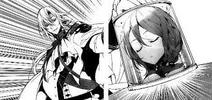 Ferid avec la tête d'Akane dans un bocal