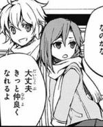 Mika assuring Akane