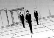 Saito arriving at somewhere