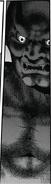Close up of black demon statue