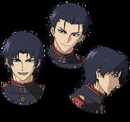 Guren's Anime face production art