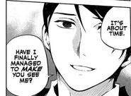 Saito asking Shinoa about his reaction