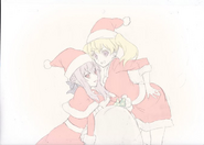 Mitsuba and Shinoa Twitter art, Christmas 2015