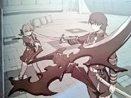 Guren and Shinoa anime artbook