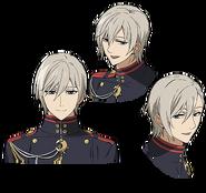 Shinya's Anime face production art