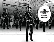 Guren and soldiers appear at Yuichiro's school