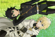 Seraph of the End poster from Otomedia April 2015 issue