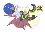 December 2015 Tweet by ABS animator with Shinoa squad for Episode 24