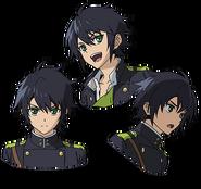 Yu's Anime face production art