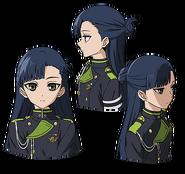 Shigure's Anime face production art