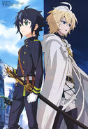 Seraph of the End poster from Animedia Magazine