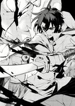 Catastrophe Book 3 - Mitsuki's demon-infected hand cut by Guren