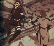 Guren getting beat anime artbook