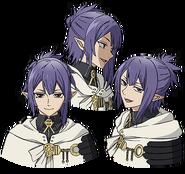 Lacus's Anime face production art