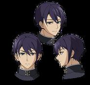 Shusaku's Anime face production art
